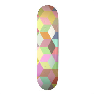 Colorful Cube Geometric Skate Boards
