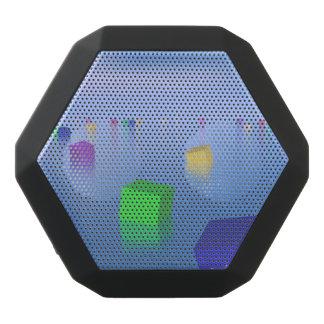Colorful cubes floating - 3D render Black Bluetooth Speaker