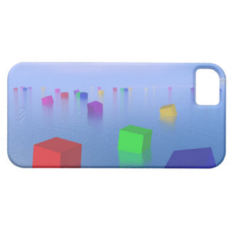 Colorful cubes floating - 3D render iPhone 5 Cover