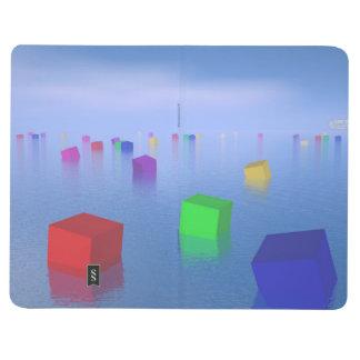Colorful cubes floating - 3D render Journal