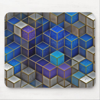 Colorful Cubes Geometric Pattern Mouse Pad