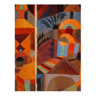 Colorful Cubism Paul Klee Abstract Postcard