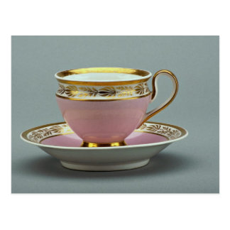 Colorful cup and saucer , Berlin, Germany Postcard