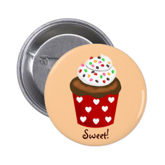Colorful Cupcake Pinback Button