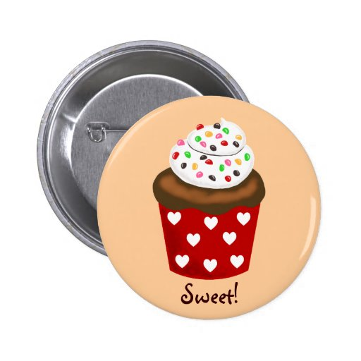 Colorful Cupcake Pinback Button