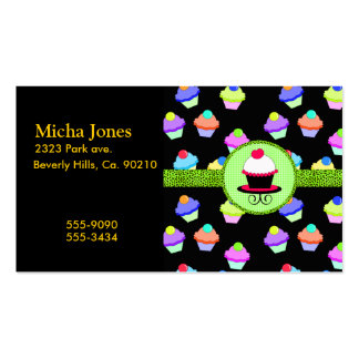 Colorful Cupcake Chaos Business Card Template