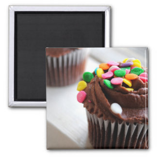 Colorful Cupcake Photograph Magnet