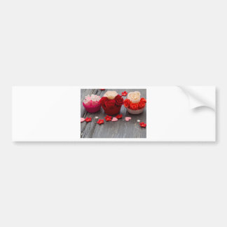 colorful cupcakes bumper sticker