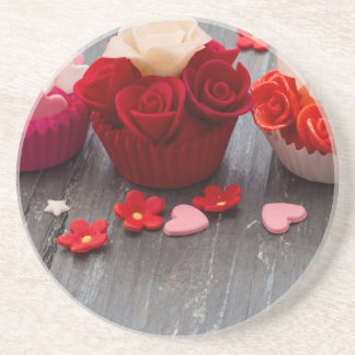 colorful cupcakes coaster