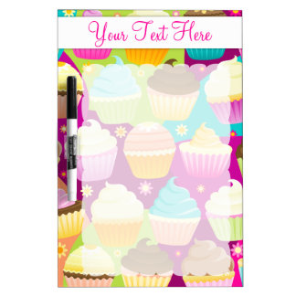 Colorful Cupcakes Dry-Erase Whiteboard