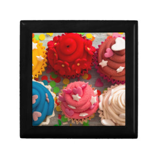 colorful cupcakes gift box