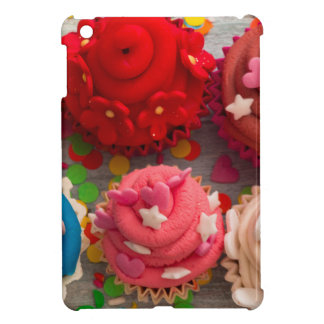 colorful cupcakes iPad mini cases