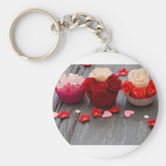 colorful cupcakes keychain