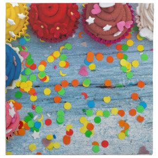 colorful cupcakes napkin