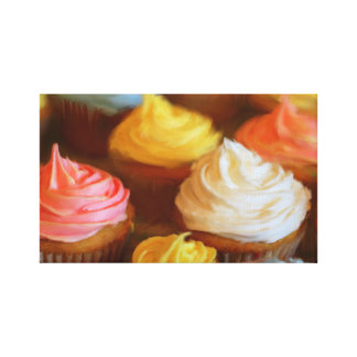 Colorful Cupcakes Painting Canvas Print