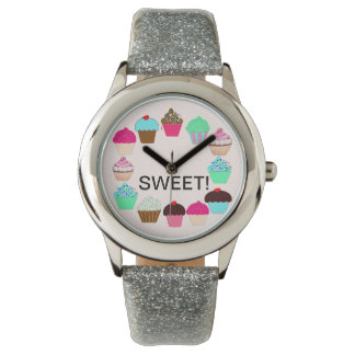 Colorful Cupcakes - Personalized Watch