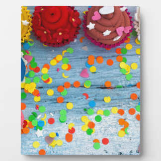 colorful cupcakes plaque