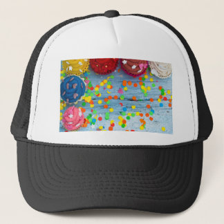 colorful cupcakes trucker hat