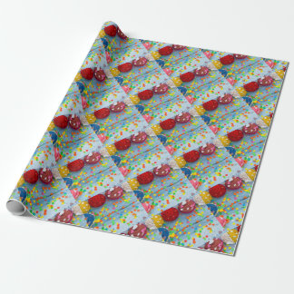 colorful cupcakes wrapping paper