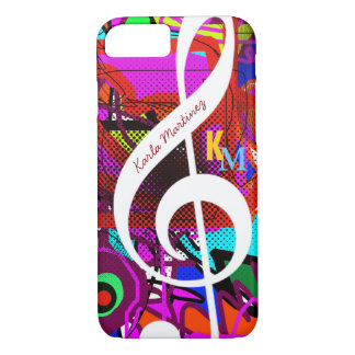 colorful & custom clave musical note iPhone 7 case