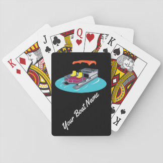 Colorful Custom Pontoon Boat Playing Cards