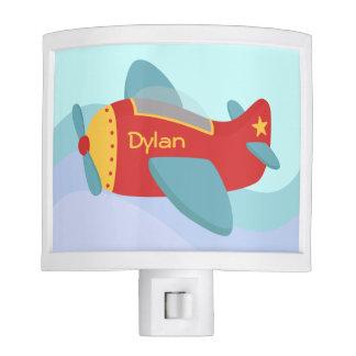 Colorful, Cute Aeroplane for boys room Nite Lights