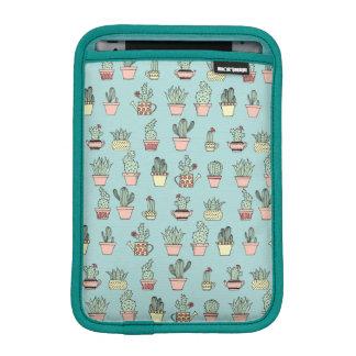 Colorful Cute Cactus In Hand Drawn Style Pattern iPad Mini Sleeve