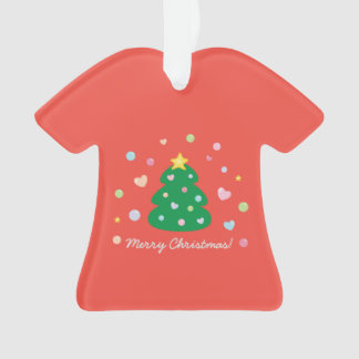 Colorful Cute Festive Merry Christmas Tree Ornament