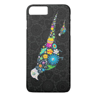 Colorful Cute Floral Bird Illustration iPhone 7 Plus Case