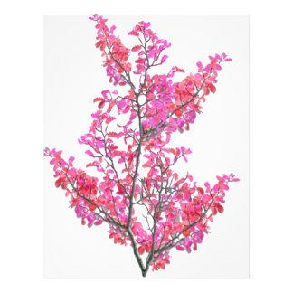 Colorful Cute Floral Design Letterhead