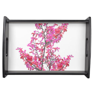 Colorful Cute Floral Design Serving Tray
