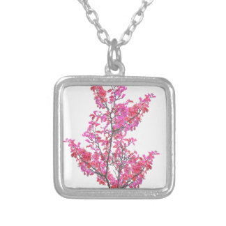 Colorful Cute Floral Design Silver Plated Necklace