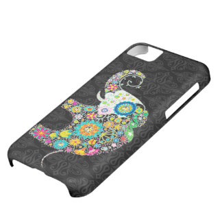 Colorful Cute Flower Elephant Illustration Case For iPhone 5C