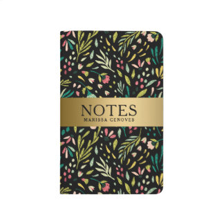 Colorful Cute Flowers Seamless Pattern Journal