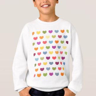 Colorful Cute Hearts VII Sweatshirt
