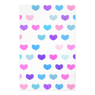 Colorful Cute Hearts VIII Stationery