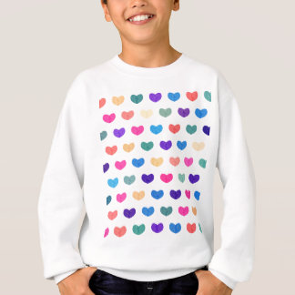 Colorful Cute Hearts X Sweatshirt