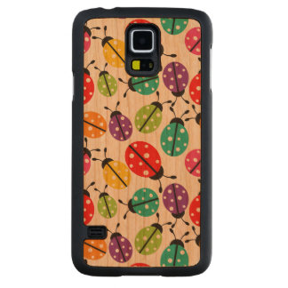 Colorful Cute Lady Bug Seamless Pattern Cherry Galaxy S5 Case