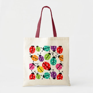 Colorful Cute Lady Bug Seamless Pattern Tote Bag