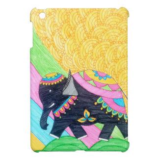 Colorful cute little madhubani elephant iPad mini cover