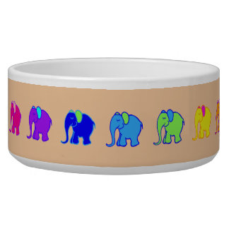 Colorful Cute Rainbow Cartoon Elephants Parade