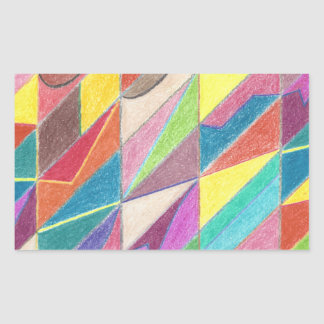 Colorful Cuts and Facets Stickers