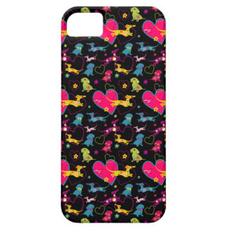 Colorful Dachshund Heart Print Case For The iPhone 5