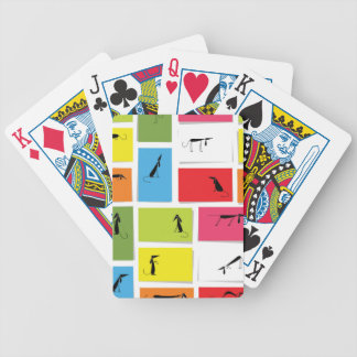 Colorful Dachshunds Poker Deck