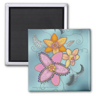 Colorful Daffodils Magnet