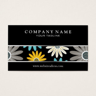 Colorful Daisies Business Card