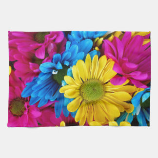 Colorful Daisies Hand Towels