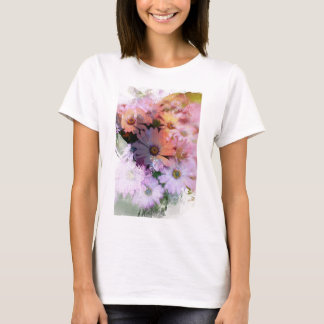 Colorful Daisies Illustration T-Shirt