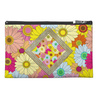 Colorful Daisies Pattern Travel Accessory Bag