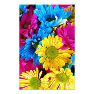 Colorful Daisies Stationery Design
